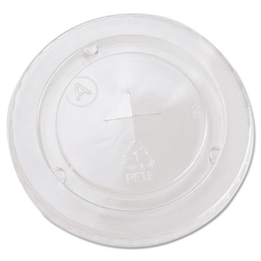 SLOTTED CUP LIDS SLOTTED CUP LIDS - Cold Cup Straw-Slot Lids, Fits 20oz Cups, ClearStraw-slot plasti