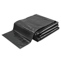 GARBAGE BAG GARBAGE BAG - Linear Low-Density Ecosac, 43 x 48, 56-Gallon, 1.0 Mil, Black, 100/CaseEss