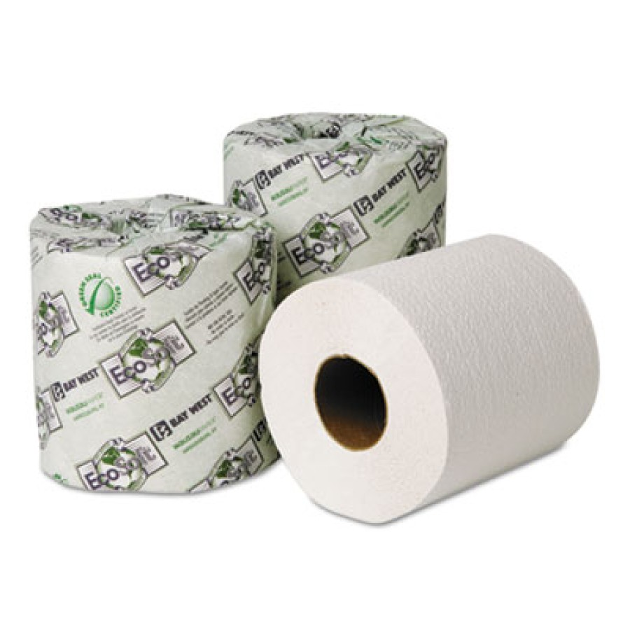 TOILET PAPER TOILET PAPER - EcoSoft Green Seal Universal Bathroom Tissue, 2-Ply, 500 Sheets/RollWaus