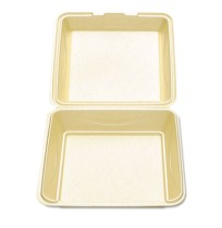 Hinged Container Hinged Container - Hinged foam carryout containers.CO CNTNR,WHT,9SQEnviroware Hinge