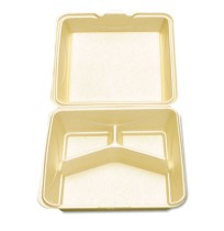 Hinged Container Hinged Container - Hinged foam carryout containers.CO3C CNTNR,WHT,9SQEnviroware Hin