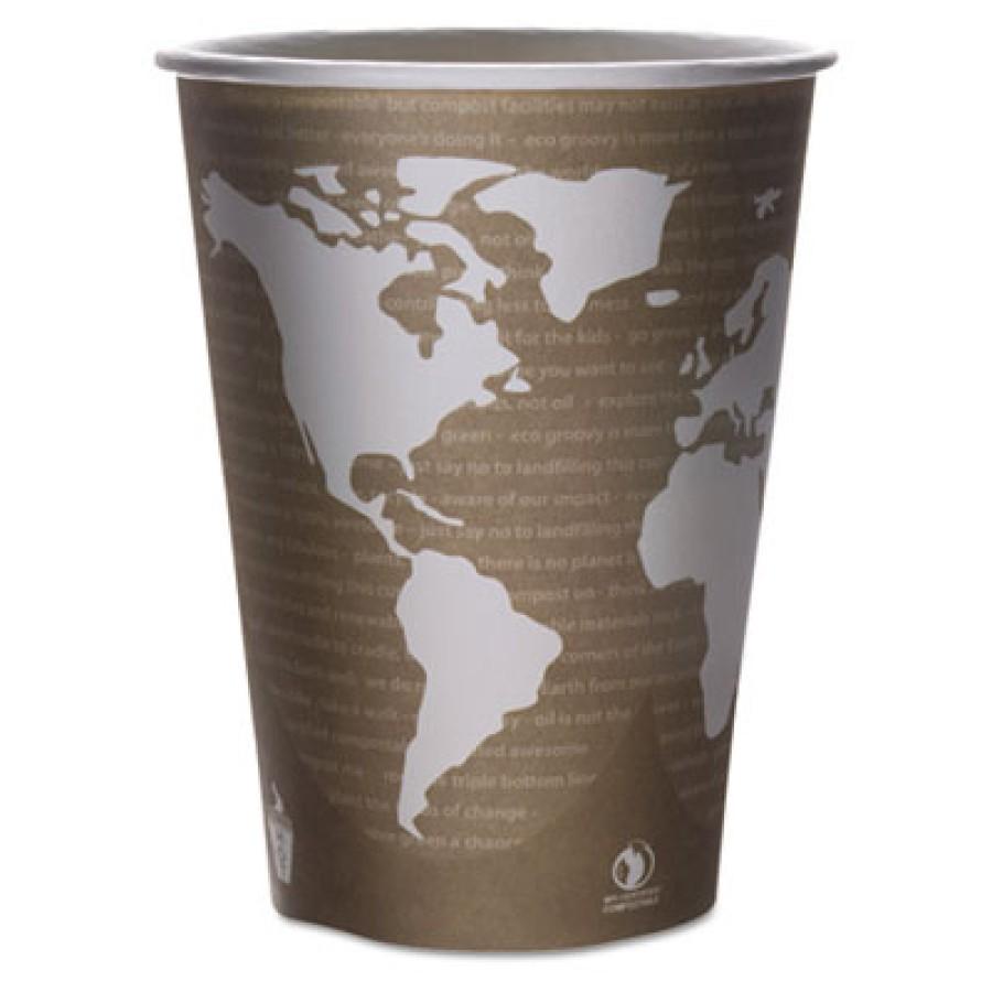 PAPER CUP | PAPER CUP | 500/CS - C-32 OZ ECO SOUP CUP WORLD ART DESIGN