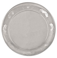PLASTIC PLATES PLASTIC PLATES - Designerware Plastic Plates, 7 1/2 Inches, Clear, Round, 10/PackWNA