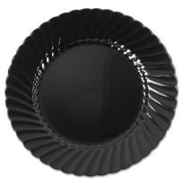 PLASTIC PLATES PLASTIC PLATES - Classicware Plastic Plates, 6 Inches, Black, Round, 10/PackWNA Class