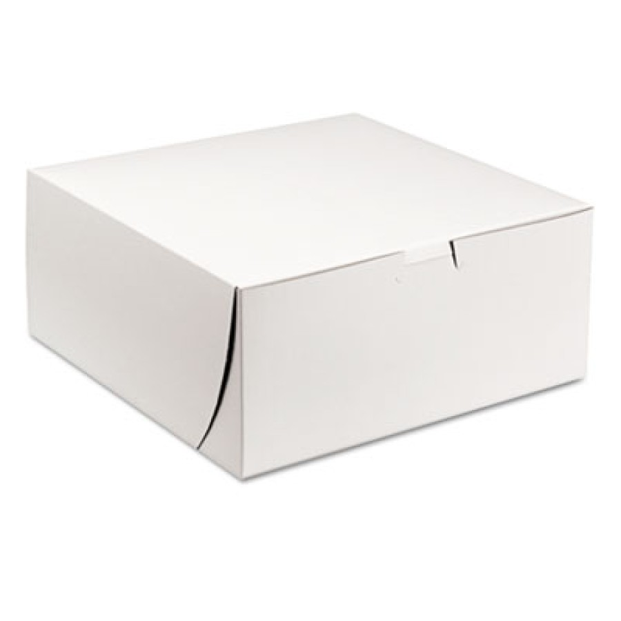 Bakery Box Bakery Box - SCT  Tuck-Top Bakery BoxesB-BOX,9X9X4 CAKETuck-Top Bakery Boxes, 9w x 9d x 4