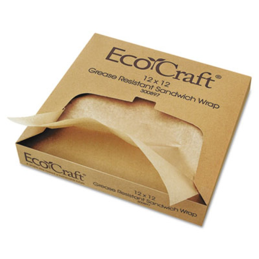 Sandwich Wrap Sandwich Wrap - Bagcraft Papercon  EcoCraft  Grease-Resistant Paper Wrap & LinerPAPER