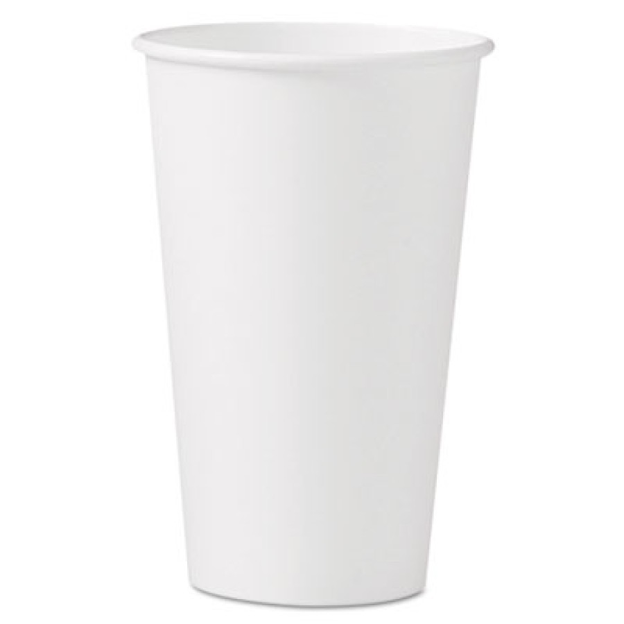 PAPER CUP | PAPER CUP | 20/50'S - C-PPR HOT CUP 16OZ WHI  20/50PPR CUP