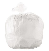 GARBAGE BAGS GARBAGE BAGS - Cub Commercial Low-Density Can Liners, 38 x 58, 60-Gal, 0.9 Mil, White,