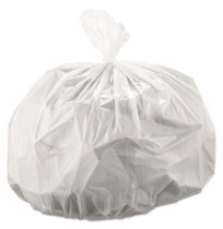 GARBAGE BAGS GARBAGE BAGS - Cub Commercial Low-Density Can Liners, 30 x 36, 30-Gal, 0.9 Mil, White,