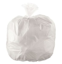 GARBAGE BAGS GARBAGE BAGS - Cub Commercial Low-Density Can Liners, 40 x 46, 45-Gal, 0.9 Mil, White,