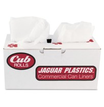 GARBAGE BAGS GARBAGE BAGS - Cub Commercial Low-Density Can Liners, 33 x 39, 33-Gal, 0.9 Mil, White,