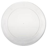PLASTIC PLATES PLASTIC PLATES - Designerware Plastic Plates, 9 Inches, Clear, Round, 10/PackWNA Desi