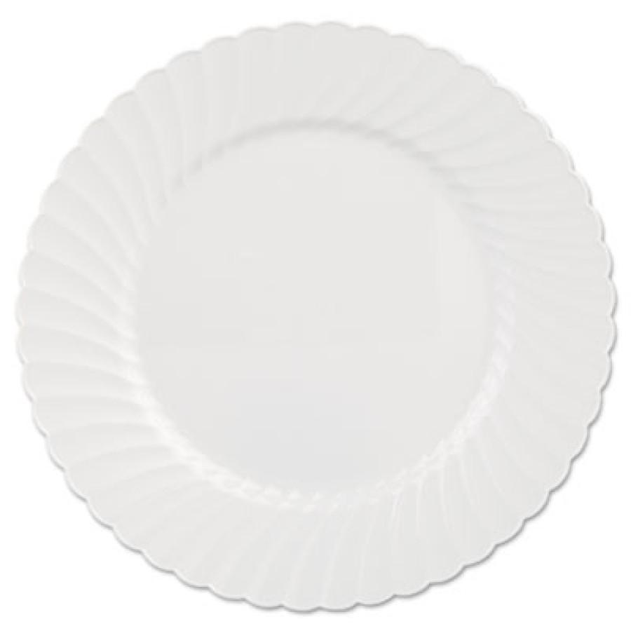 PLASTIC PLATES PLASTIC PLATES - Classicware Plates, Plastic, 10.25 in, WhiteWNA Classicware  Plastic