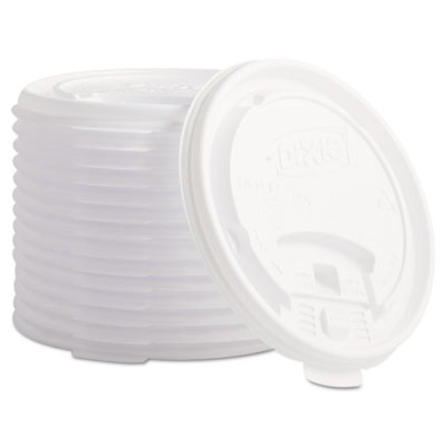 HOT CUP LIDS HOT CUP LIDS - Plastic Lids for Hot Drink Cups, 12 & 16 oz, WhiteDixie  Plastic Lids fo