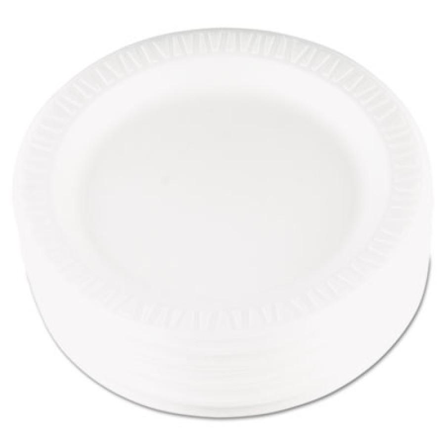 FOAM PLATES FOAM PLATES - Foam Plastic Plates, 9 Inches, White, Round, 125/PackDart  Quiet Classic