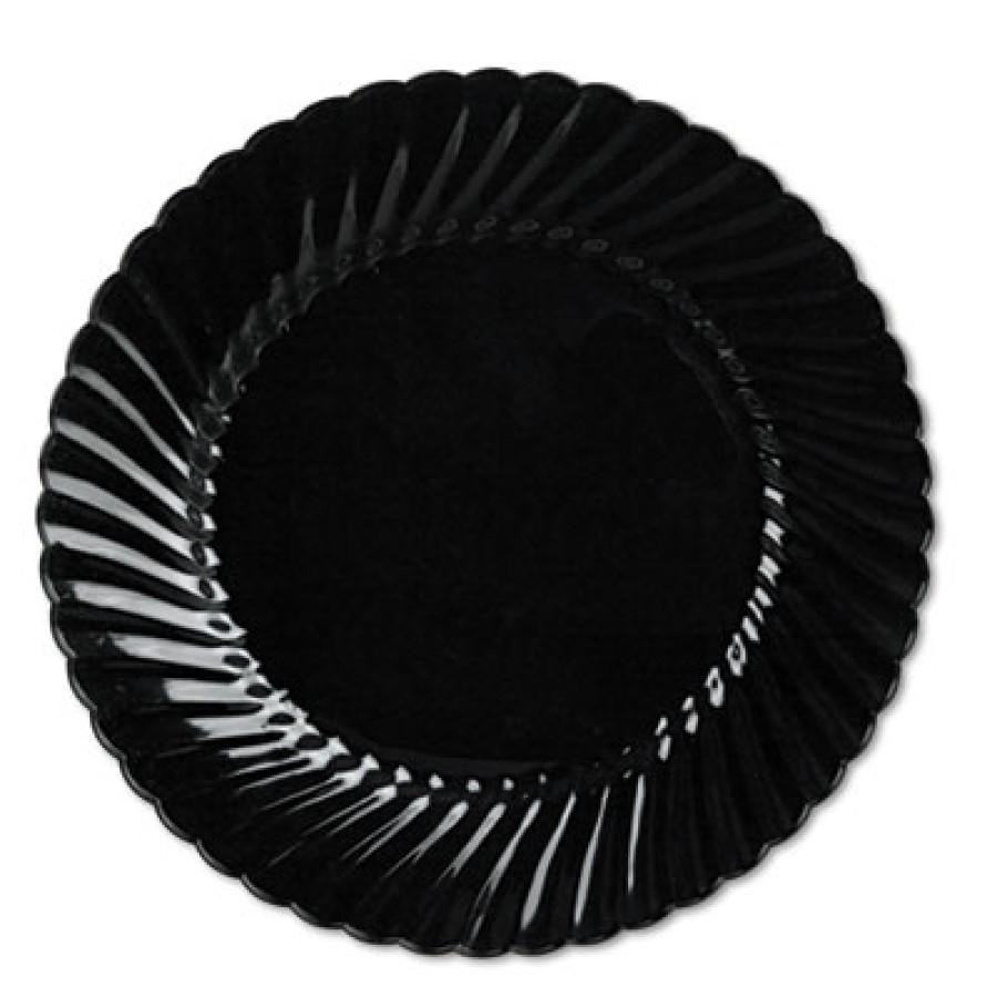 PLASTIC PLATES PLASTIC PLATES - Classicware Plates, Plastic, 10.25 in, BlackWNA Classicware  Plastic