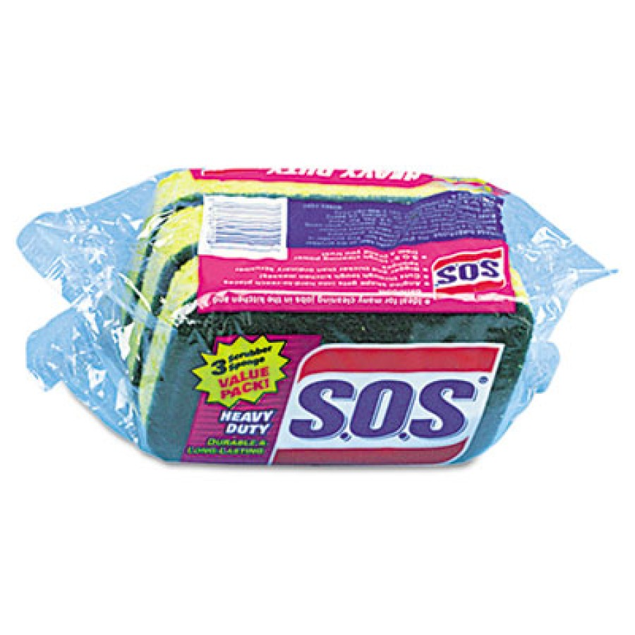 Sponge Sponge - S.O.S  Heavy-Duty Scrubber SpongeSPONGE,HVYDTY,SOSHeavy-Duty Powdered Hand Soap, Uns