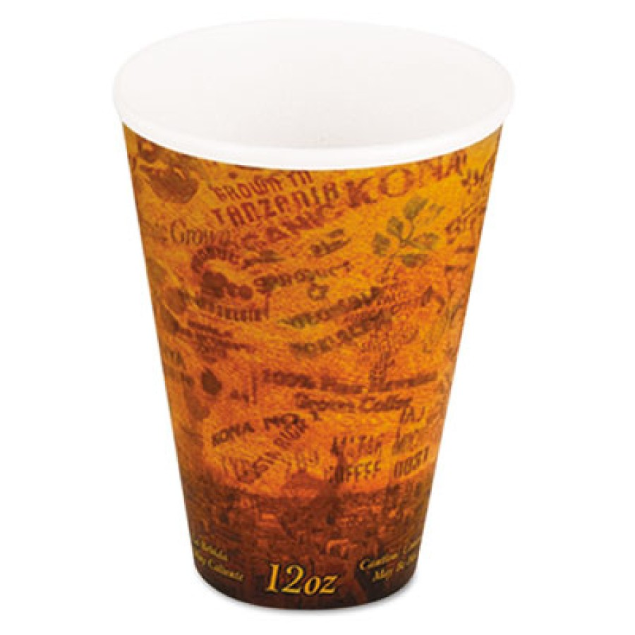 FOAM CUPS FOAM CUPS - Foam Hot/Cold Cups, 12 oz, Brown/BlackPolystyrene cups for hot and cold bevera