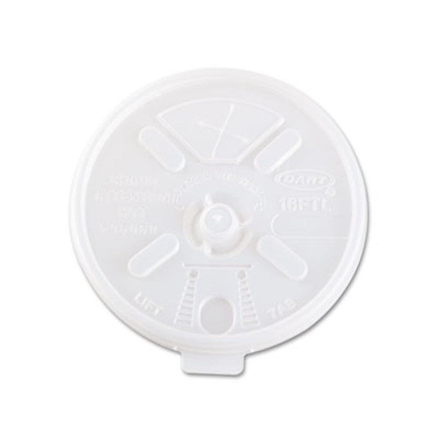 FOAM CUP LIDS FOAM CUP LIDS - Translucent Lids for 12-24 oz. Foam Cups, Straw SlotDart  Plastic Lids