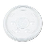 SLOTTED CUP LIDS SLOTTED CUP LIDS - Plastic Lids, for 16-oz. Hot/Cold Foam Cups, Slip-Thru Lid, Whit