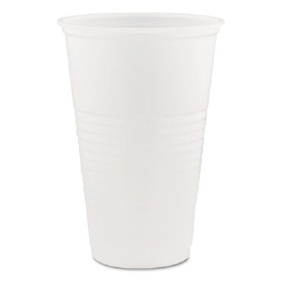PLASTIC CUPS PLASTIC CUPS - Conex Translucent Plastic Cold Cups, 20 ozDart  Conex  Translucent Plast