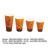 FOAM CUPS FOAM CUPS - Foam Hot/Cold Cups, 24 oz, Brown/BlackPolystyrene cups for hot and cold bevera
