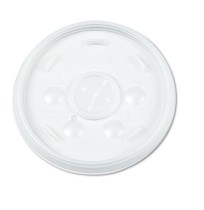 SLOTTED CUP LIDS SLOTTED CUP LIDS - Plastic Lids, for 32-oz. Hot/Cold Foam Cups, Straw Slotted Lid,