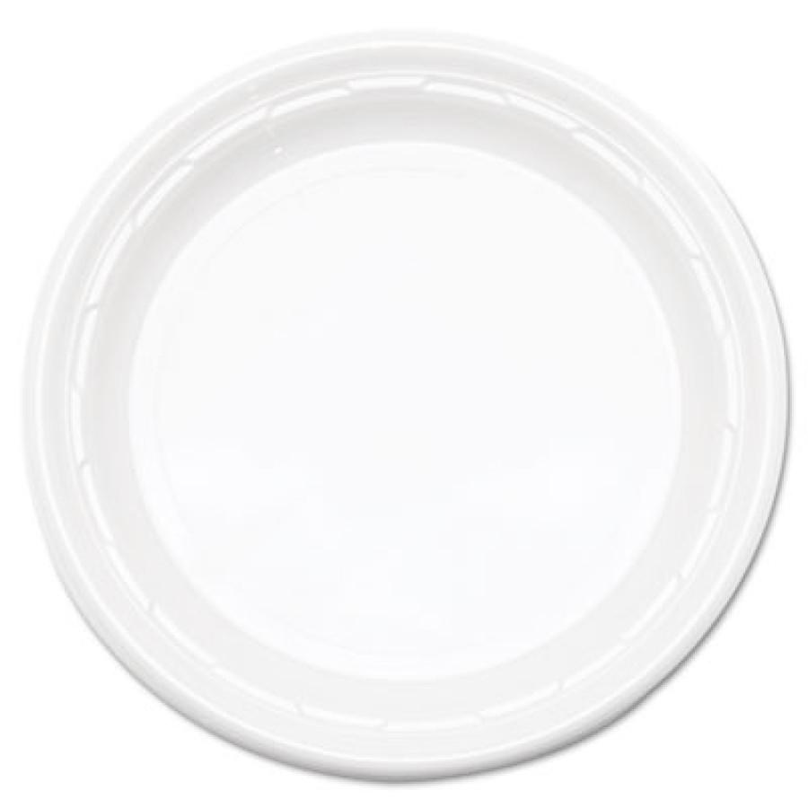 "PLASTIC PLATES PLASTIC PLATES - Famous Service Plastic Dinnerware, Plate, 6"", WhiteDart  Famous Serv"