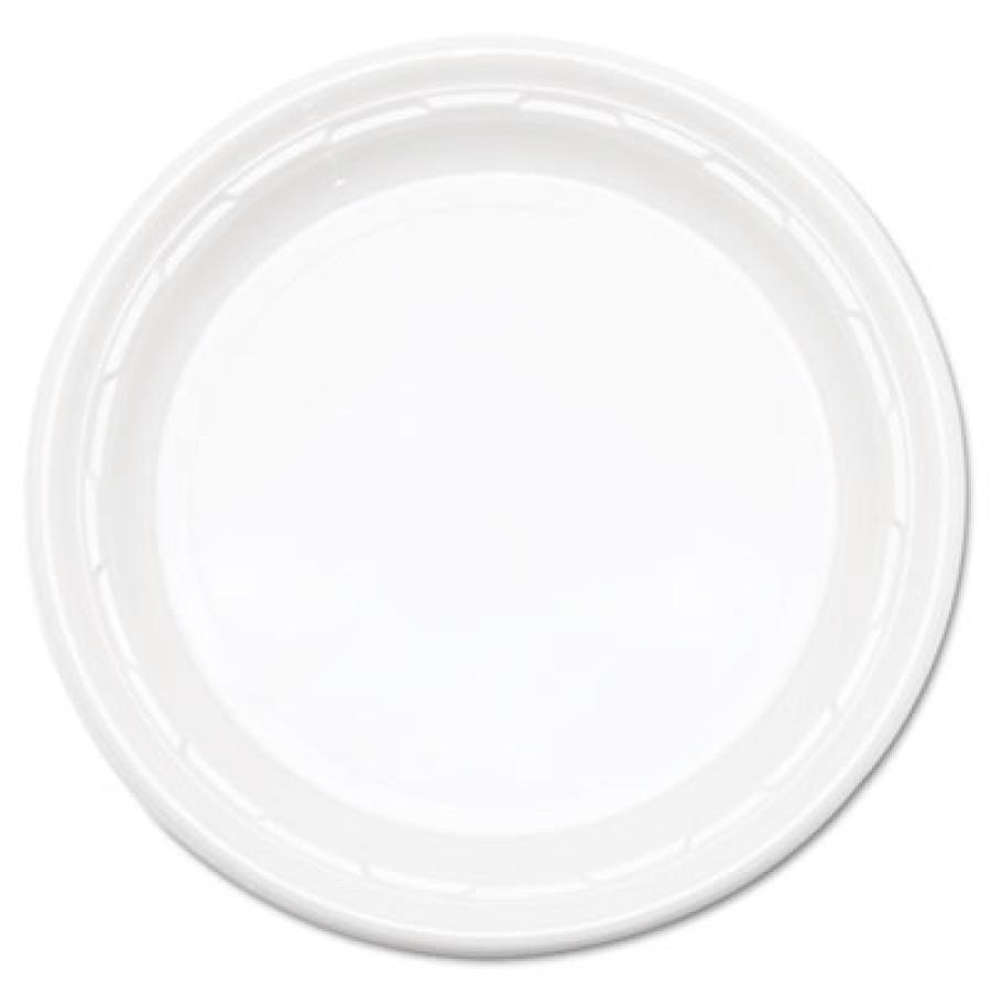 "PLASTIC PLATES PLASTIC PLATES - Famous Service Plastic Dinnerware, 9"", WhiteDart  Famous Service  Im"
