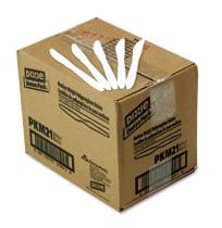 PLASTIC KNIFES PLASTIC KNIFES - Plastic Tableware, Mediumweight Knives, WhiteDixie  Plastic CutleryC
