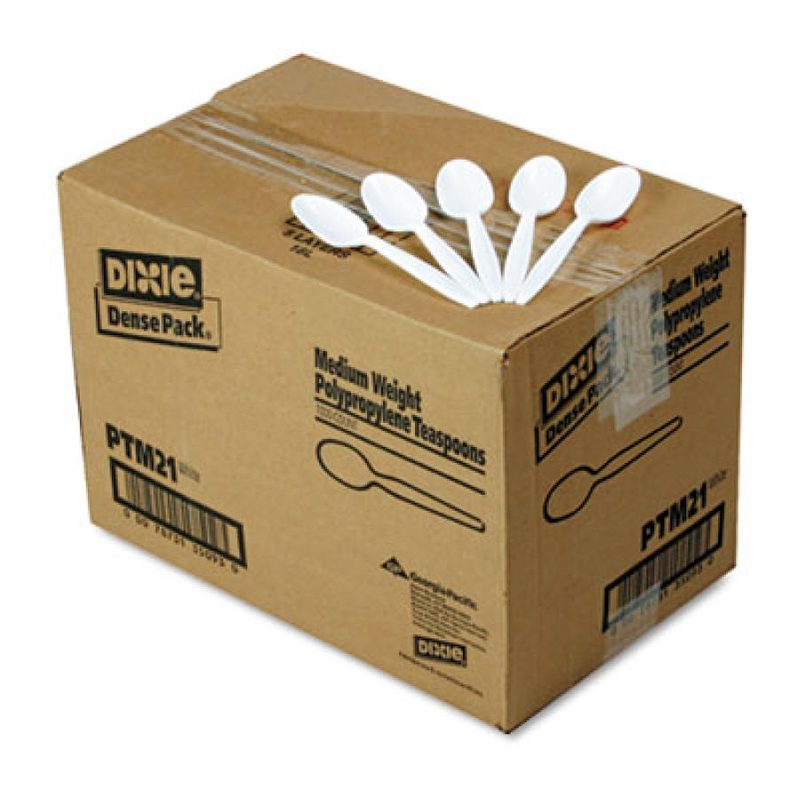 PLASTIC SPOONS PLASTIC SPOONS - Plastic Tableware, Mediumweight Teaspoons, WhiteDixie  Plastic Cutle