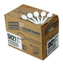 PLASTIC SPOONS PLASTIC SPOONS - Plastic Tableware, Heavyweight Soup Spoons, WhiteDixie  Plastic Cutl