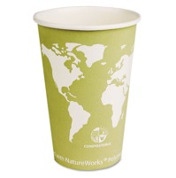 PAPER CUP | PAPER CUP | 1000/CS - C-16 OZ WORLD ART ECO HO CUP 1000/CA