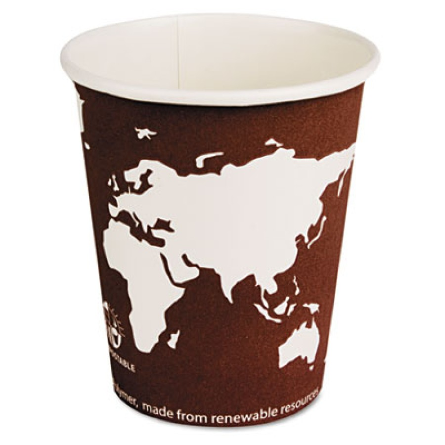 PAPER CUP | PAPER CUP | 1000/CS - C-8 OZ WORLD ART ECO HOT CUP 1000/CA