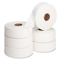 "TOILET PAPER TOILET PAPER - Jumbo Roll Bath Tissue, 12"" dia, 2000 ftenvision  Jumbo Bathroom TissueC"