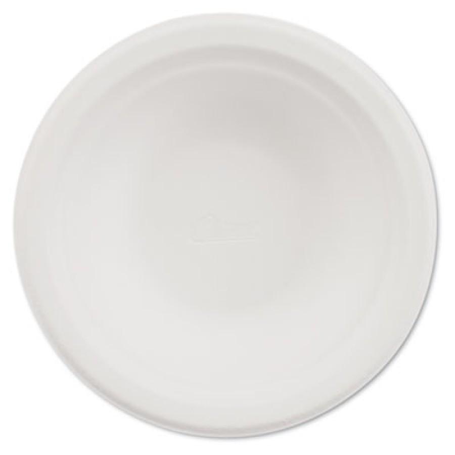 Round Paper Bowls, 12 Ounces, White (125 Per Box)