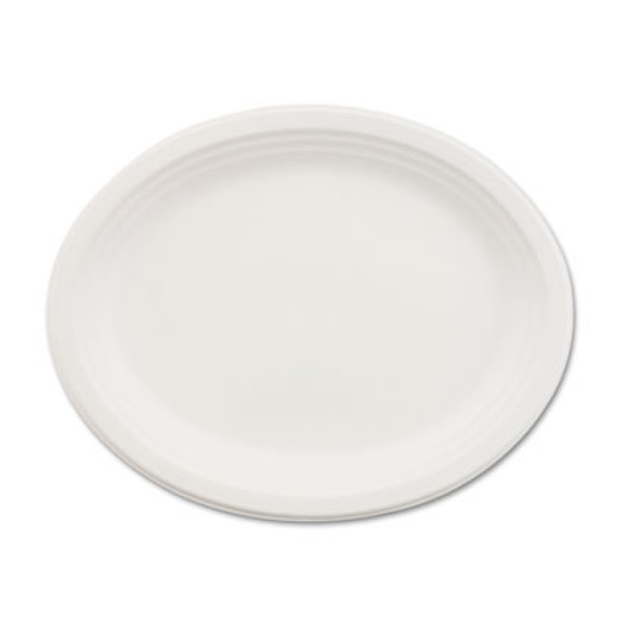 PAPER PLATES PAPER PLATES - Paper Dinnerware, Oval Platter, 9-3/4 x 12-1/2, WhiteChinet  Classic Pap