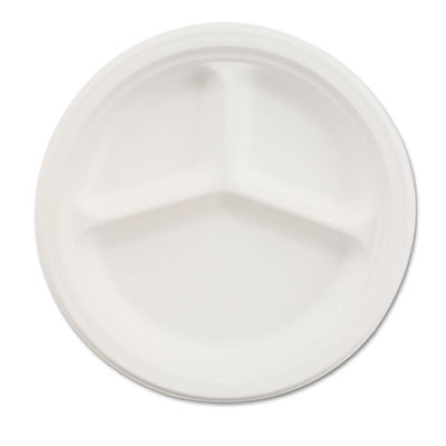 PAPER PLATE | PAPER PLATE | 500/CS - C-CHINET PREM 3COMP PPR  PLT 9.25