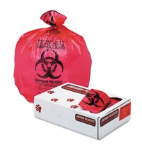"BIOHAZARD INFECTIOUS WASTE BAGS BIOHAZARD INFECTIOUS WASTE BAGS - Health Care ""Bio-hazard"" Printed L"
