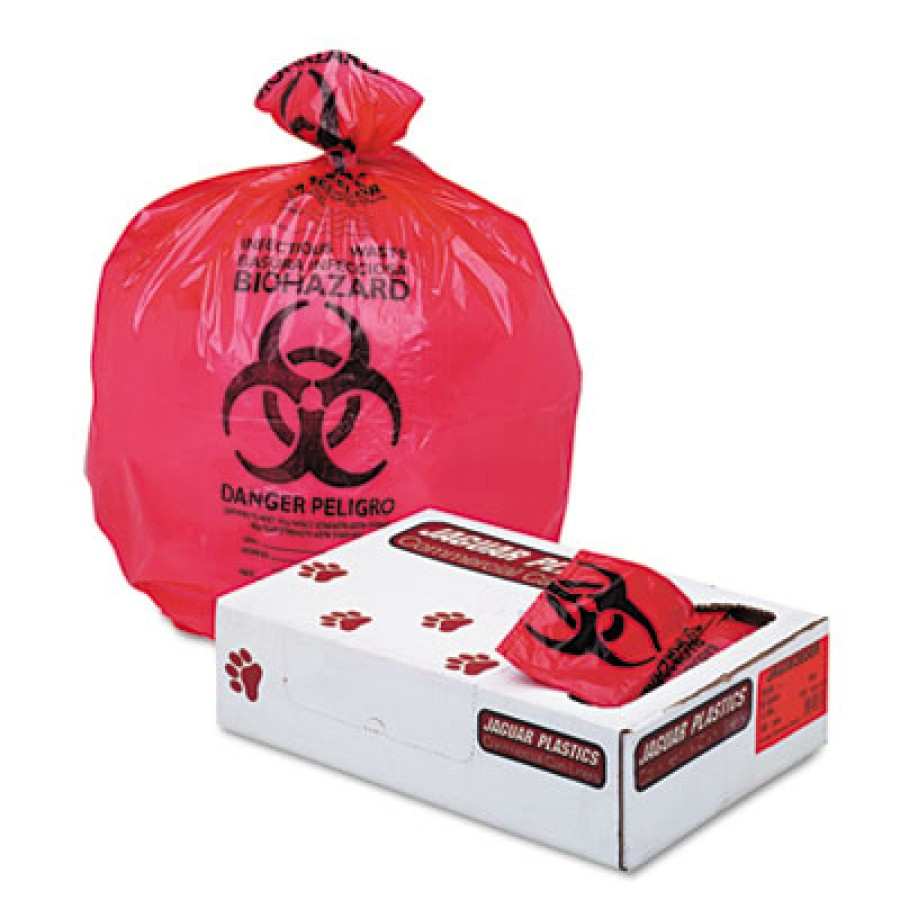 "BIOHAZARD INFECTIOUS WASTE BAGS BIOHAZARD INFECTIOUS WASTE BAGS - Health Care ""Bio-hazard"" Printed L"