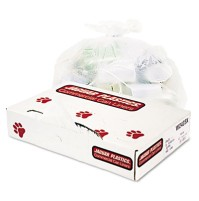 GARBAGE BAG GARBAGE BAG - Industrial Strength Commercial Can Liners, 10 gal, .5 mil, WhiteJaguar Pla