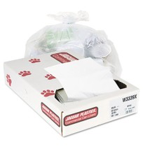 GARBAGE BAG GARBAGE BAG - Industrial Strength Commercial Can Liners, 33 gal, .9mil, WhiteJaguar Plas