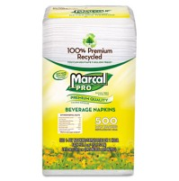 Napkin Napkin - Marcal PRO  100% Premium Recycled Beverage NapkinsNAPKIN,BEV,1PLY,9.75x9.5Premium Re