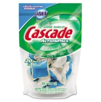 Dishwashing Soap Dishwashing Soap - Cascade  ActionPacsCLNR,CASCADE,BEAction Pacs, Blue.7 oz. Reclos