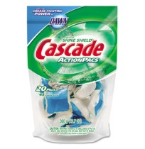 Dishwashing Soap Dishwashing Soap - Cascade  ActionPacsCLNR,CASCADE,BEAction Pacs, Blue.7 oz. Reclos