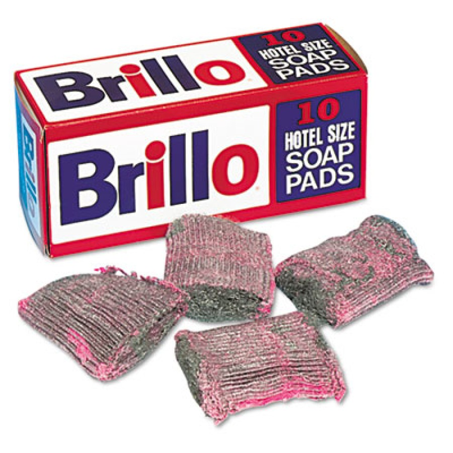 Steel Wool Pad Steel Wool Pad - Brillo  Hotel Size Soap PadPAD,STEEL WOOL SOAP,GYSteel Wool Soap Pad