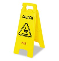 "Wet Floor Sign Wet Floor Sign - Rubbermaid  Commercial Multilingual ""Caution"" Floor SignSIGN,CAUTION"