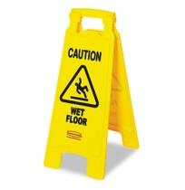Wet Floor Sign Wet Floor Sign - Rubbermaid  Commercial  Caution Wet Floor  Floor SignCAUTION,WET FLR