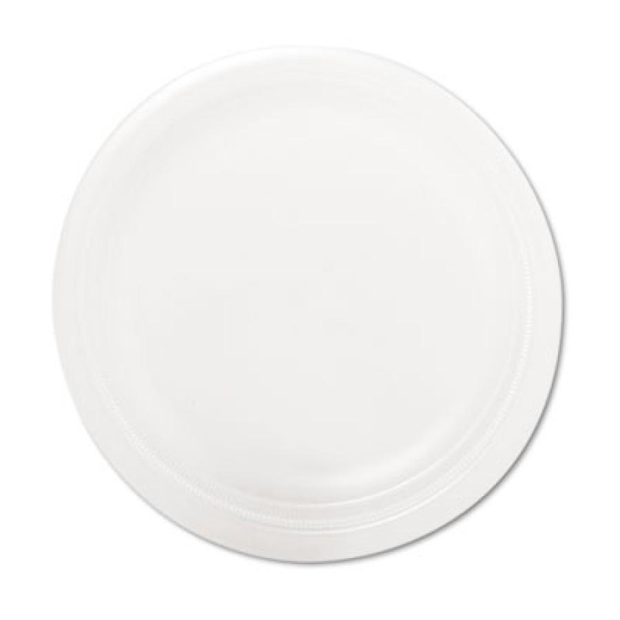 "FOAM PLATES FOAM PLATES - Mediumweight Foam Dinnerware, Plates, 9"" Diameter, WhiteSOLO  Cup Company"