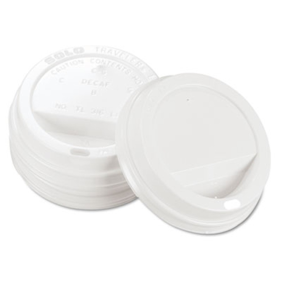 HOT CUP LIDS HOT CUP LIDS - Traveler Drink-Thru Lid, WhiteSOLO  Cup Company Traveler  Drink-Thru Lid